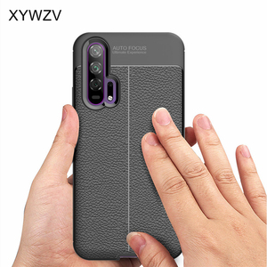 Image 4 - For Huawei Honor 20 Pro Case Luxury PU leather Rubber Soft Silicone Phone Case For Huawei Honor 20 Pro Cover For Honor 20 Pro