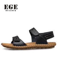 2016 New Arrival Fashion Men Beach Sandals Full Genuine Leather Sewing Classics Slippers For Men