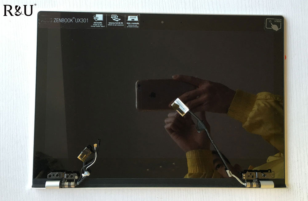 R&U 2560*1440 lcd screen display with touch screen digitizer assembly Upper half set 13.3 for Asus Zenbook UX301 UX301LA