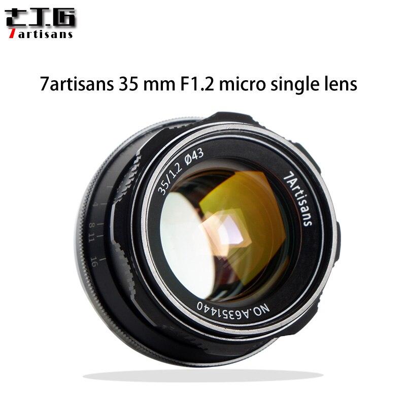 7 ремесленников 35 мм F1.2 объектив с фиксированным фокусным расстоянием для sony E-mount/для Fuji XF APS-C Камера руководство беззеркальных фиксированно...