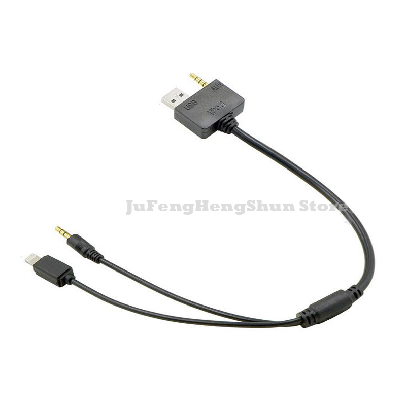 Car 3 5mm Aux Audio Adapter Cable Auto Music Cable Usb Charger For Iphone 4 4s 5 5s 6 6s Plus