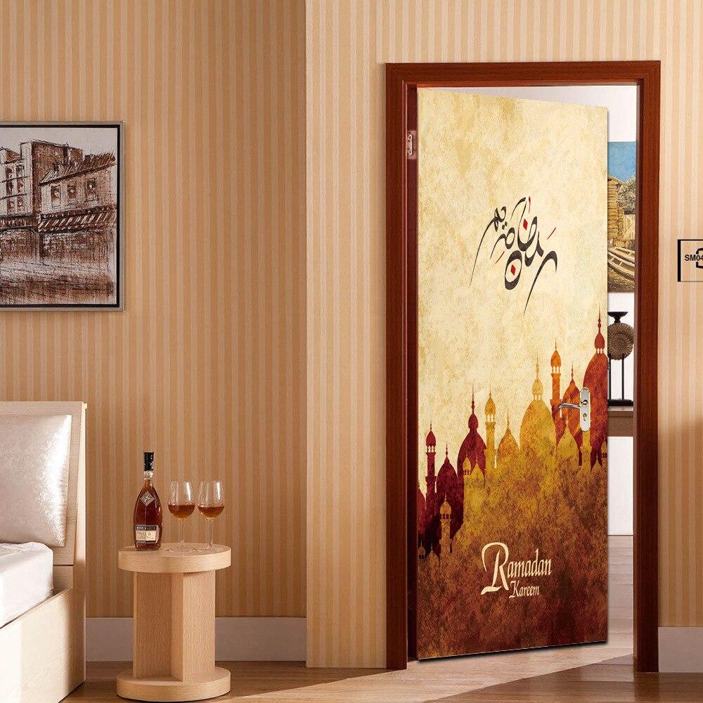 US $13 84 OFF 3D Ramadan Kareem Allah Arabic Art Wall Sticker Wallpaper Mural Islamic Decal Calligraphy Vinyl Stickers Wallpaper For Room All