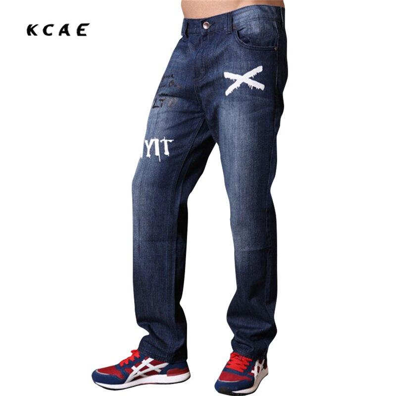2017  Men Fashion Street Dance Denim Baggy Pants Casual Loose Skateboard Trousers  Hip Hop Jeans
