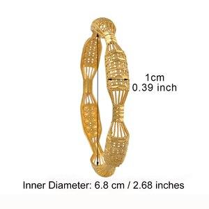 Image 3 - مجموعة من 4 قطع من الأساور للسيدات باللون الذهبي مناسبة كهدية عربية أفريقية #088106 متر