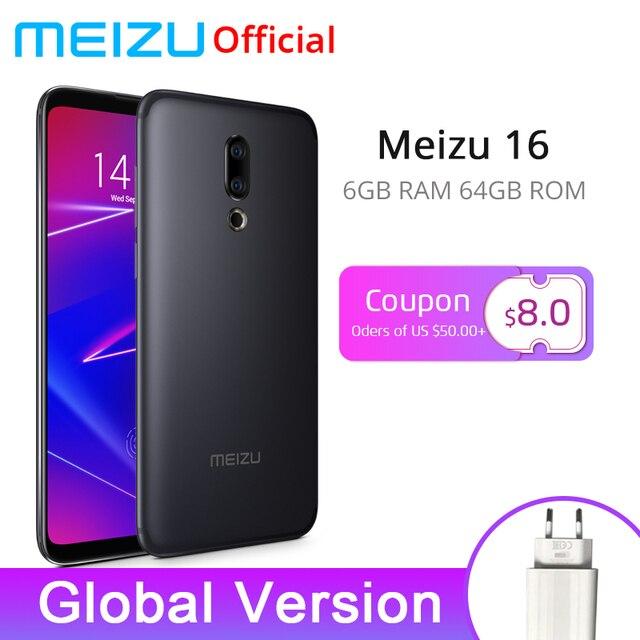 Oficial mundial versión Meizu 16 6 GB 64 GB Snapdragon 710 Octa Core 6 pulgadas 2160x1080 P frente 20MP 3100 mAh en pantalla huella