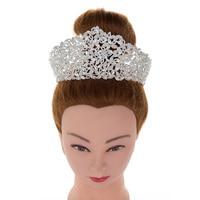 Crown Headband Sparkling Big Diadem Crowns Princess Queen Wedding Party Elegant High Quality BC4435 Haar Sieraden Bruiloft