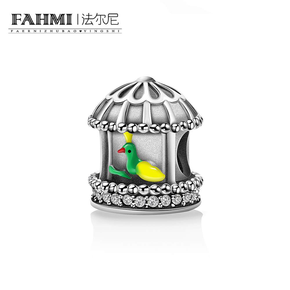Beliebte Marke Fahmi Neue Ankunft 100% 925 Sterling Silber Herold Von Frühling Vogel Käfig Anhänger Charme Fit Frauen Armband Diy Schmuck Geschenk Y7064