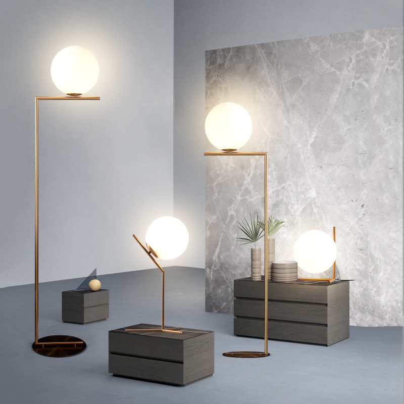 MDWELL Modern nordic Glass ball table lights Retro Vintage desk Lamp E27 Loft for bedroom beside lamp gold Plated EU US plug