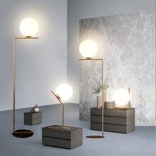 MDWELL, luces de mesa de cristal nórdicas modernas, lámpara de escritorio Retro Vintage E27, Loft para dormitorio junto a la lámpara, enchufe europeo estadounidense chapado en oro