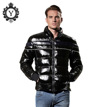 COUTUDI 2016 Mens Down Jacket Winter Fashion Premium Coldproof Nylon Black Stylish Parka Coats Sale Quilted Puffer Short Jacket