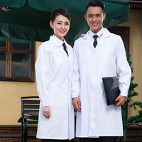 VIAOLI Women Or Men White Medical Coat Clothing Medical Services Uniform Nurse Clothing Long Sleeve Polyester