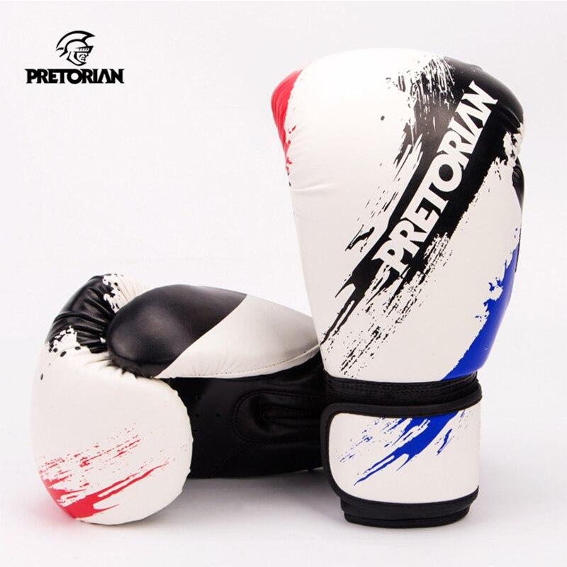 10OZ 12OZ Pretorian Boxing Gloves Muay Thai MMA Fitness Jujitsu Sweat Dry Fit PU Leather Professional