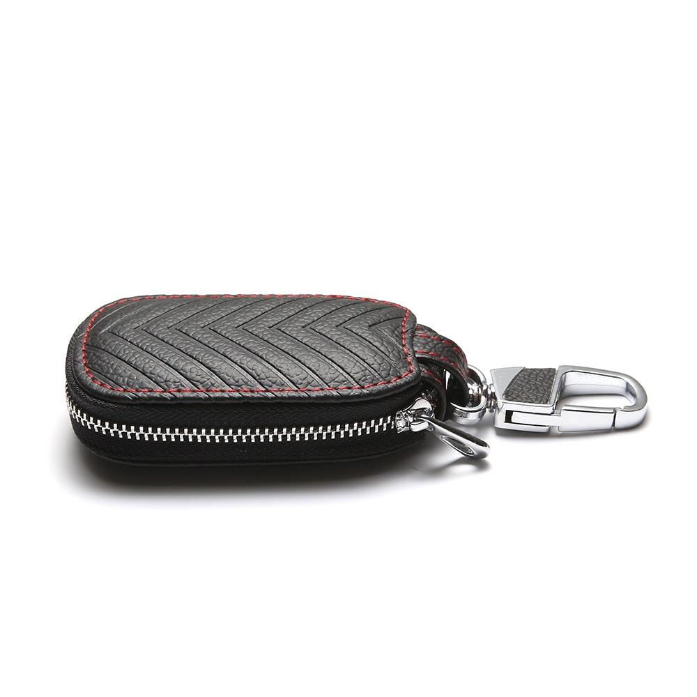 Leather Car Key Holder Bag Keychain Keyring Pendant Keyfob Case For Audi Mercedes Peugeot Toyota Mazda Skoda BMW Hyundai Opel