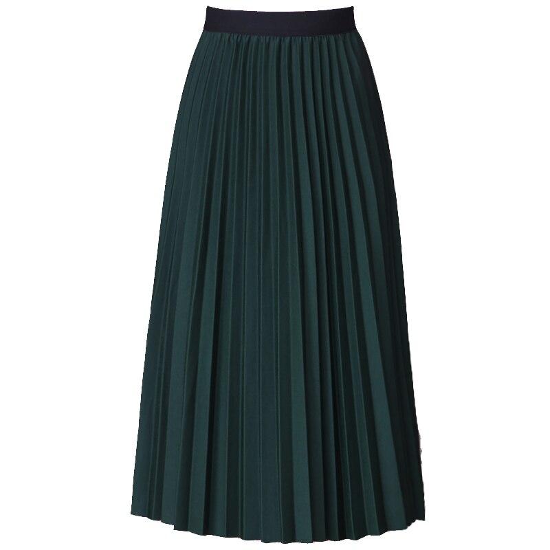 c71e1613ff Plisado Maxi tulle Faldas Mujeres Nuevo verano primavera mujeres falda  elástica de alta cintura larga elegante BIG SWING falda tutú adulto en  Faldas de La ...