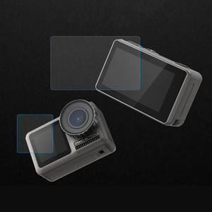 Image 4 - 1 ensemble de Film Pet clair trempé double écran pour DJI OSMO + protecteur dobjectif pour DJI OSMO accessoires de caméra daction ultra mince L0525 DJ