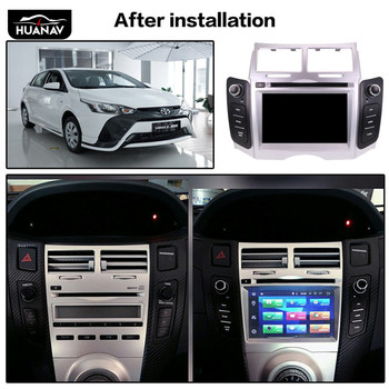 Android 8.1 Car DVD Player GPS navigation For Toyota YARIS 2005-2011 Auto radio player multimedia screen headuint tape recorder