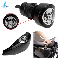 Skull Oil Dip Stick Filler Plug For Harley Sportster XL 883 1200 48 2004 2016 Motorcycle Fuel Gas Dipstick Plugs WISENGEAR /