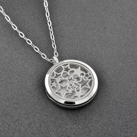DI 108 fasihon holiday Jewelry Gift Circle with bright Moon and start linked Perfect words writing necklace