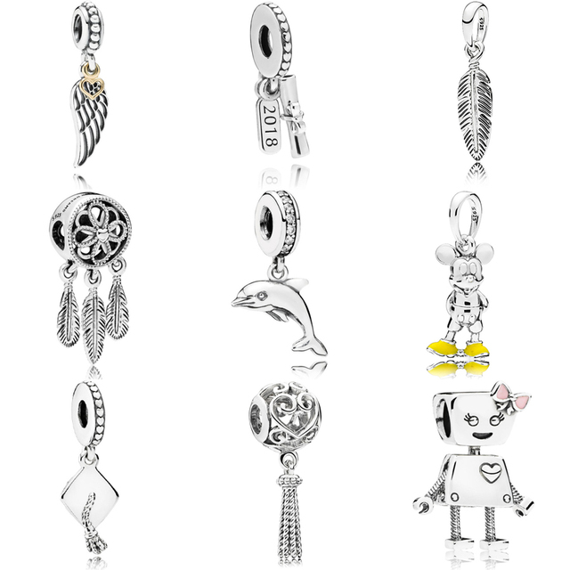 e0b904b2c 2018 NEW Summer 925 sterling silver Bella Mickey Spiritual Dreamcatcher  Charm Fit pandora Bracelet Necklace Pendant DIY Jewelry