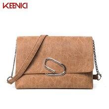 KN Damen Paperclip Tasche Dünne Einfache Art Und Weise Design Handtaschen Für Frauen Solide Kette Umhängetaschen Tasche Tageskupplungen