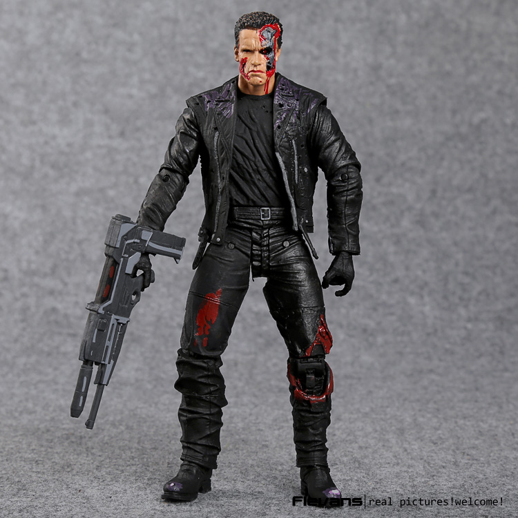 The Terminator T-800 Arnold Schwarzenegger PVC Action Figure Collectible Model Toy 7 18cm MVFG346 new 1333cm pvc american film terminator t 800 arnold schwarzenegger doll action figure adult model toy