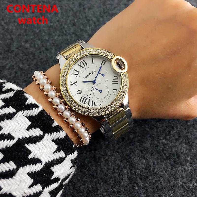 CONTENA Armband Quartz horloge Luxe Dames Casual horloges Mode Rose - Dameshorloges - Foto 2