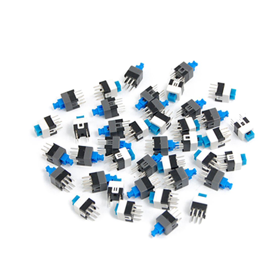 цена на Promotion! 40 Pcs 7 x 7mm PCB Tact Tactile Push Button Switch Self Lock 6 Pin DIP