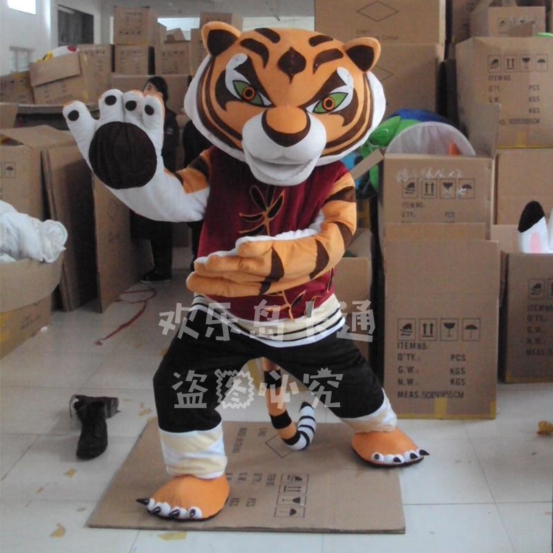 Costume de mascotte adulte tigre Kung Fu vêtements de dessin animé unisexe