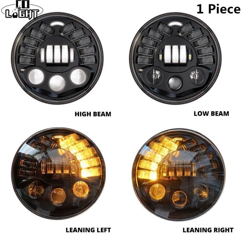CO LIGHT DOT 7 Inch LED Headlights 70W Angle Eyes 7 Hi/Low For Lada 4x4 Urban Niva Land Rover Defender Hummer 12V 24V Auto DRL