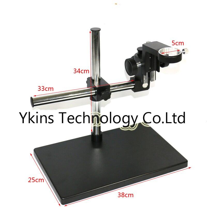 Support universel support de table réglable de grande taille + bras métallique réglable multi-axes pour caméra de Microscope de l'industrie de laboratoire