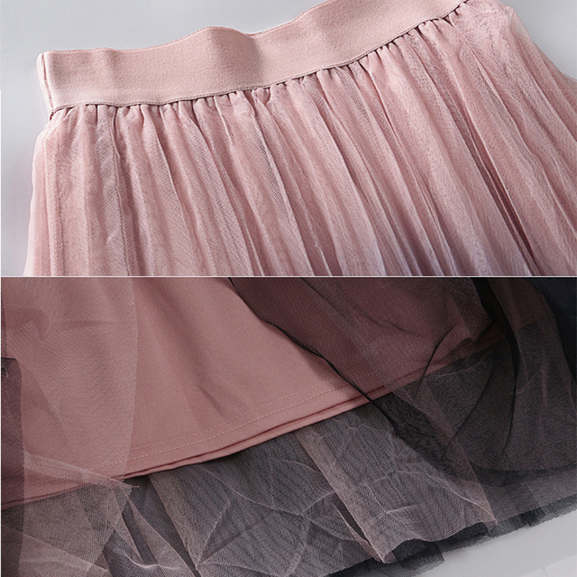 High Waist Pleated Midi Skirt for Female