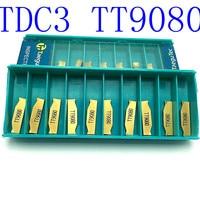 חיתוך כלי מחרטה כלי כלי טונגסטן קרביד 20PCS TDC3 TT9080 ניקור 3mm כלי קרביד CNC מחרטה כלי מחרטה חיתוך (1)