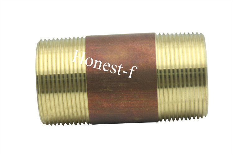 LTWFITTING Brass Pipe 12 Long Nipple Fitting 1 1/2 Male NPT Air Water