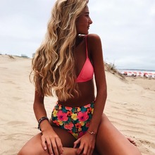 Купить с кэшбэком 2019 Sexy Brazilian Bikini Set Women Swimwear Halter Swimwear Bathing Suit Push Up Bikini Beach waer Biquinis String Bikini