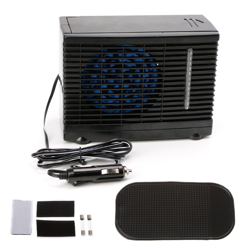 Free delivery Adjustable 12V 60W  Car Air Conditioner  Cooler Cooling Fan Water Ice Evaporative Cooler Portable New-in Heating & Fans from Automobiles & Motorcycles    1