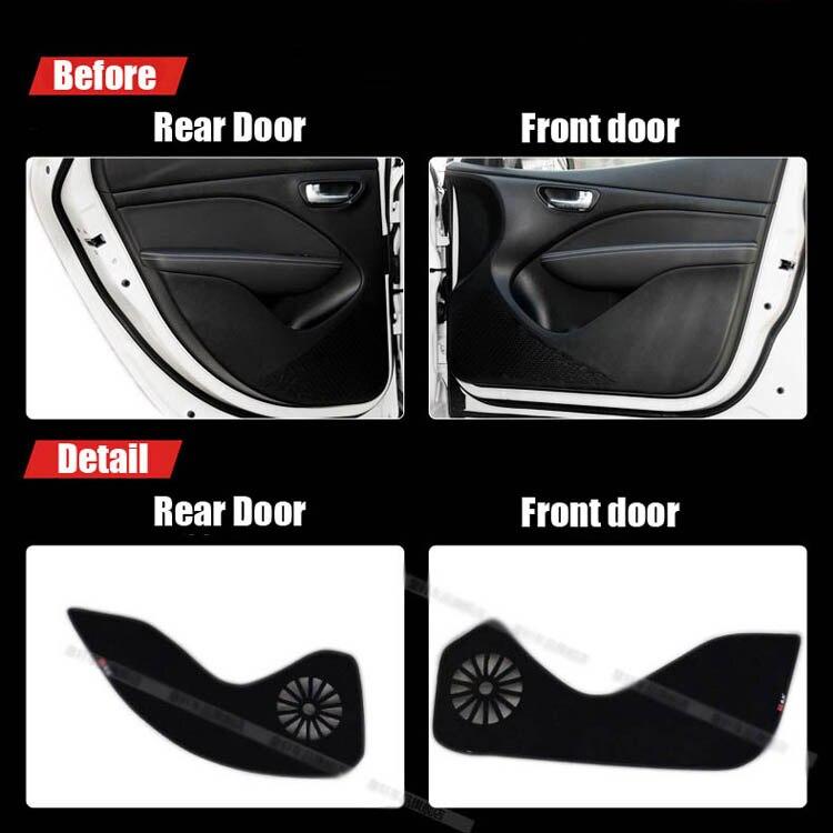 Ipoboo 4pcs Fabric Door Protection Mats Anti-kick Decorative Pads For Fiat Viagglo / Ottlmo 2012-2015 ipoboo 4pcs fabric door protection mats anti kick decorative pads for hyundai elantra 2012 2015