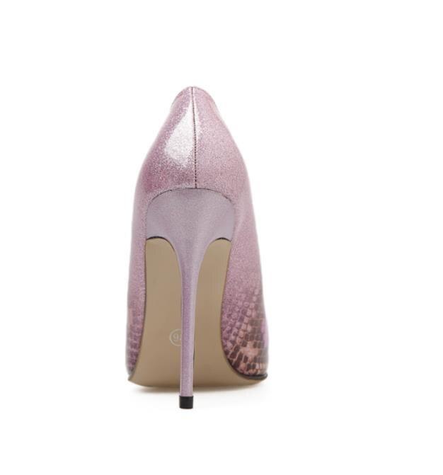 Talons Bleu Bouche Nouveau Printemps Et Élégante Pointu Sexy rose Été Lumière Hauts Gradient Stilettos 7qRFqvw