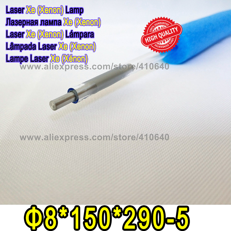 HIGH QUALITY 1 Pair Laser Xenon Lamp 8*150*290-5 Apply for Laser Cutting Marking Machine Xe Lamp Laser Tube Free Shipping lskcsh xenon tube xe lamp for yag laser cutting welding machine flash pulsed bulb light wholesale type a high quality 1064nm