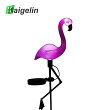 Novelty Solar LED Simulated Flamingo Garden Light Lawn Lamp Outdoor LED Waterproof Solar Spike Lights For Garden Decoration