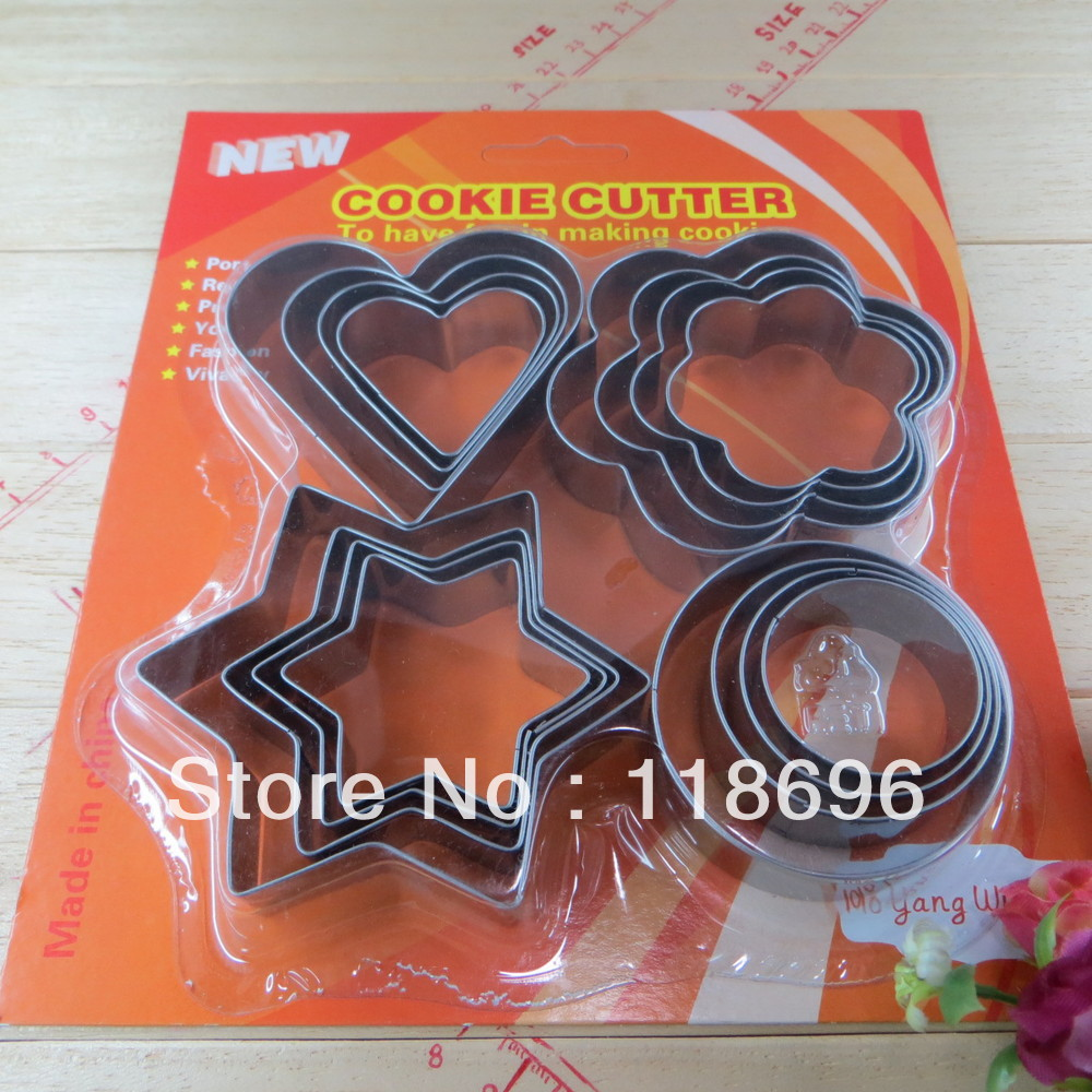 cookies mould SS410 cookie mould Cake Making Cookie cutter 16PCS Metal cookie cutter NO.:Co42