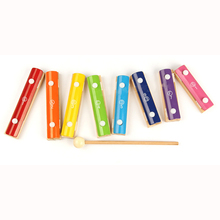 Baby Blocks Toy diversification  Piano Children Hand Knock Percussion 8 Note Small Musical Instruments for girl and boy gift