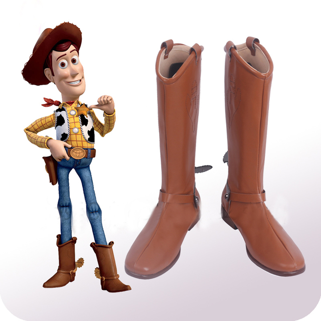 Toy Story Cowboy Sherif Woody Cosplay Shoes Boots