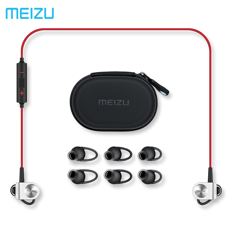 Original Meizu EP51 Wireless Sports Headphone Bluetooth4 support aptX Noise Cancelling MIC Aluminium Alloy shell TPE