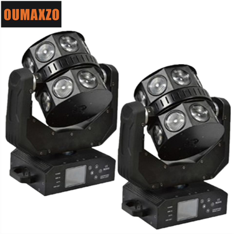 16x12W Led Moving Head Double Flying Light USA Cree Led RGBW 4IN1 Color UFO Design Ultimate Rotate Disco DJ Light For KTV Bar