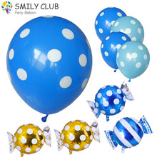 18 inch colorful candy foil balloons 50pcs/lot round Wave point wedding birthday baby party decoration