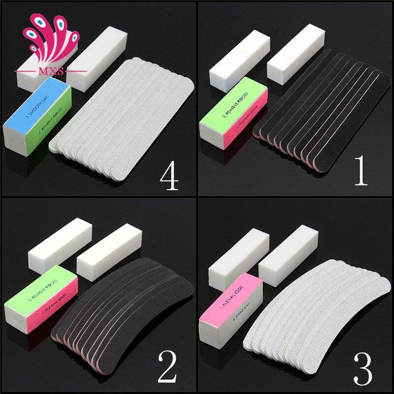 13PCS/set Sanding Files Buffer Block Nail Art Salon Manicure Pedicure Tools UV Gel Set Kits Nail Art File Buffer Manicure Tools