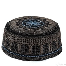 Arabia saudyjska męskie muzułmanin modlitwa kapelusze islamski żydowskiej maski Je Kippah czaszki czapki indyjski kapelusz Topi Kufi Namaz Beanie Gorro musulman