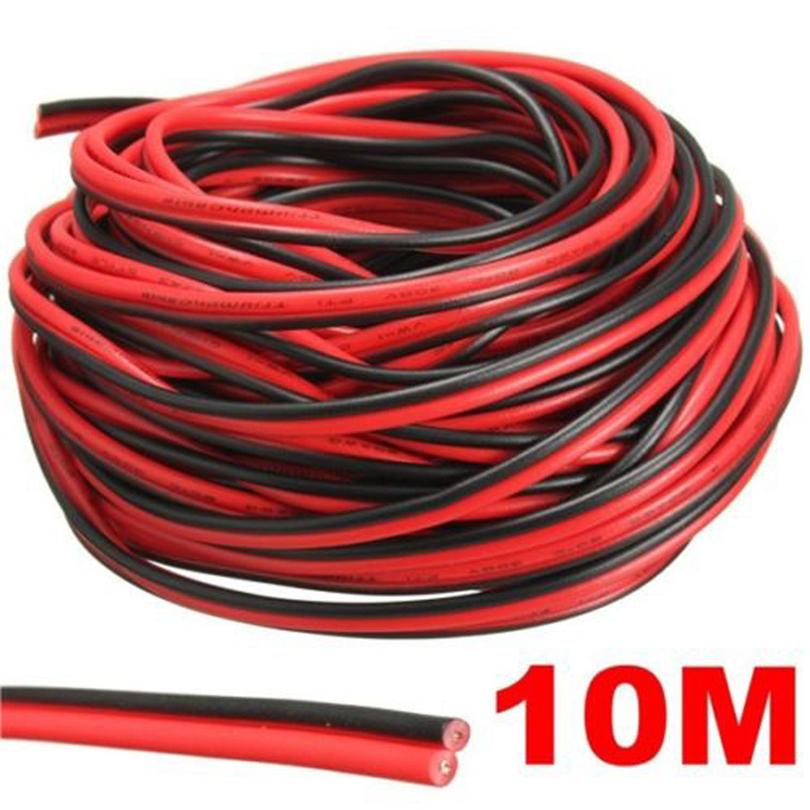 3/10 Meter Electrical Wire Tinned Copper 2 Pin AWG Insulated PVC Extension LED Strip Cable Red Black Wire Electric Extend Cord20