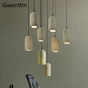 Image 4 - Cimento do vintage pingente lâmpada led retro pendurado luzes para sala de jantar café luz fixtutes industrial luminária suspensão
