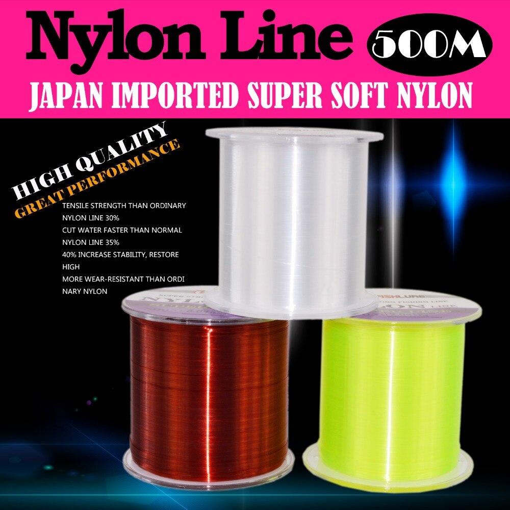 500m Nylon Fishing Line Durable Monofilament Strong Quality Nylon Fishing Lines No 2-6 Japan sea fishing Linha De Pesca Carp